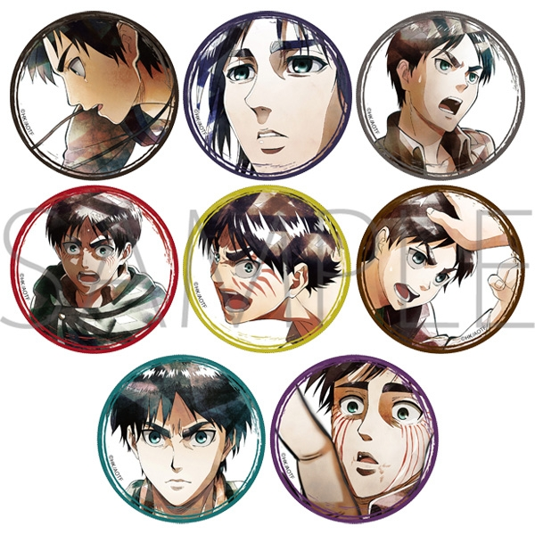 Attack on Titan Art-Pic Character Badge Collection Eren