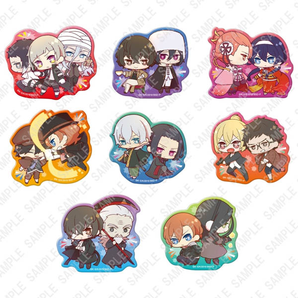 Bungo Stray Dogs Clear Clip Badge Versus